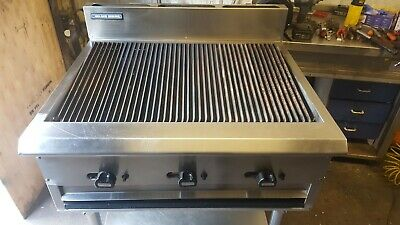 Original Blue Seal G59-8 Heavy Duty Natural Gas Chargrill 3 Burner 90 cm