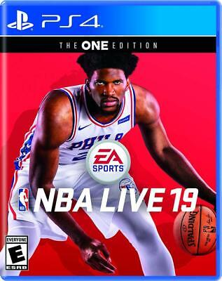 NBA Live 19 The One Edition (PlayStation 4, 2018) Brand New Sealed Free Shipping