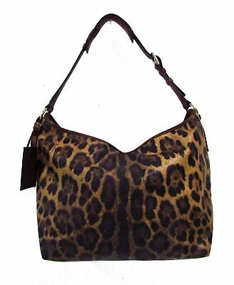 e5d6c391a67 DOLCE   GABBANA Animalier Leopard Animal Print Canvas   Brown ...