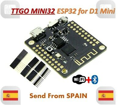 TTGO MINI32 MINI 32 ESP32 WiFi + Bluetooth Module Development Board for D1 mini
