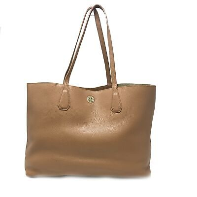 1af40566b335 TORY BURCH PERRY Pebbled Leather Multi-Color Stripe Tote -  395.00 ...