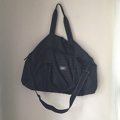 Victoria s Secret Weekender Large Gym Duffle Bag Black Lightweight VS Duffel  NWT 6db5d278797f7