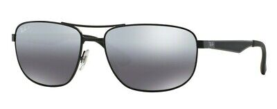 a3cc0cb4be RAY-BAN SUNGLASSES 3528 006 82 Matt Black Silver Mirror Polarized ...
