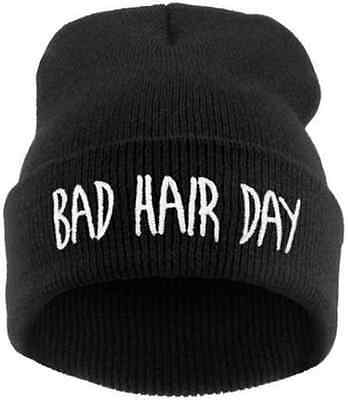 Cool Winter Hat Cap Bad Hair Day Knitted Hats Ladies Skullies and Beanies Women