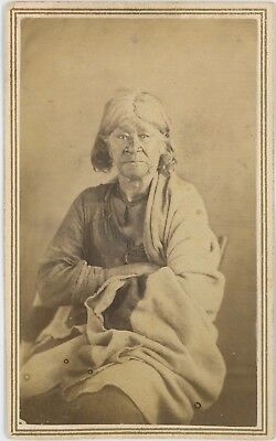Native American Chippewa Indian Mother Ontonagon CDV Carte De Visite V47ADK