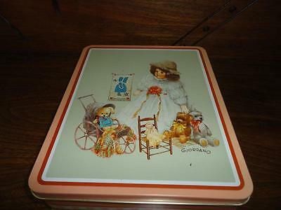 Giordano Art 1987 Tin Metal Case Antique Doll & Toys Bessies Playmates