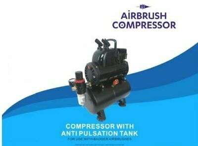 AIR COMPRESSOR WITH AIRTANK FOR BADGER AIRBRUSH - Compressor - Badger