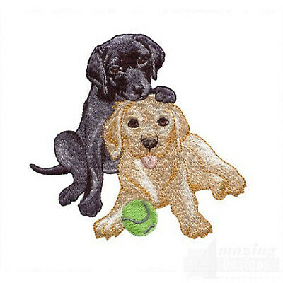 Loveable Labrador Pup Designs for Machine Embroidery - On a CD or USB