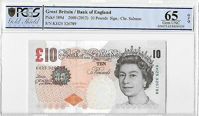 2002 GREAT BRITAIN UK CHRIS SALMON 5 POUNDS P-391d UNC