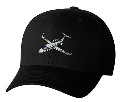 00670666ffb9c4 Private Jet Embroidered Hat Flying Cessna Citation Lear Eclipse Cap Airplane
