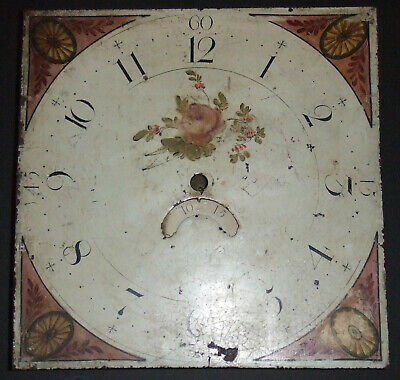 """Untouched Original Longcase 30 Hour 12"""" Clock Dial and Movement for Restoration"""