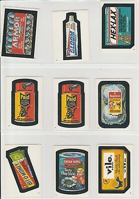 1982 Topps Wacky Packages Stickers ~ 50 Assorted