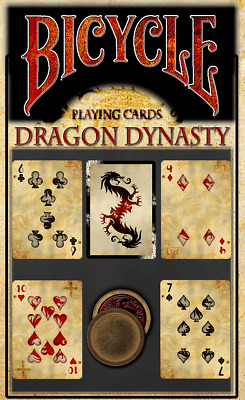 Bicycle Playing Cards Dragon Dynasty Deck Rare Limited Custom Chinese Art Poker