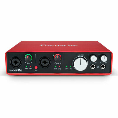 Focusrite Scarlett 6i6 6 In/Out USB 2.0 Audio Interface w/2 Mic Preamps 2nd Gen