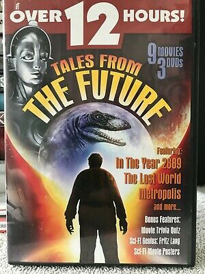 TALES FROM THE Future - 9 Movies 3 DVDS (DVD, 2005 3-Disc Set) L(@@)K NEW  SEALED