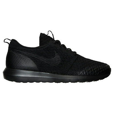 on sale 6a0a6 03bbe Authentique Nike Roshe Run NM Flyknit Soi Entièrement Noires de Course  816531