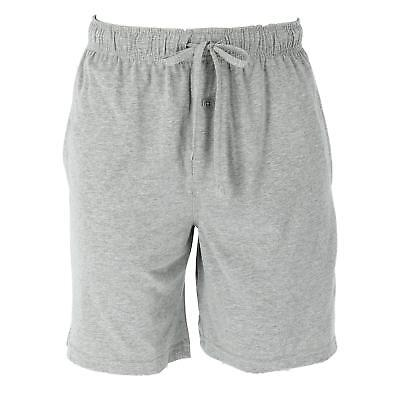 New Fruit of the Loom Men's Big and Tall Solid Knit Sleep Shorts