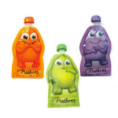 New Little Mashies 2 Pack Reusable Food Squeeze pack Free Express Shipping