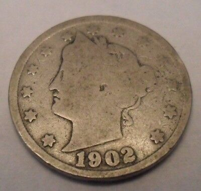 "1902 P Liberty Head ""v"" Nickel  Sds  **free Shipping**"