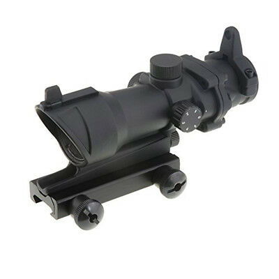 ACOG Tactical 1×32 Red/Green Dot Sight Airsoft Rifle Hunting Scope With QD Mount