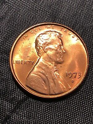 1973 D Lincoln Penny BU From Mint Roll - 20% off 5+