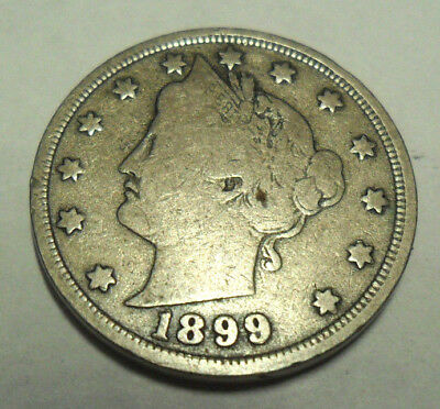 """1899 P Liberty Head """"v"""" Nickel  *ag Or Better*   **free Shipping**"""