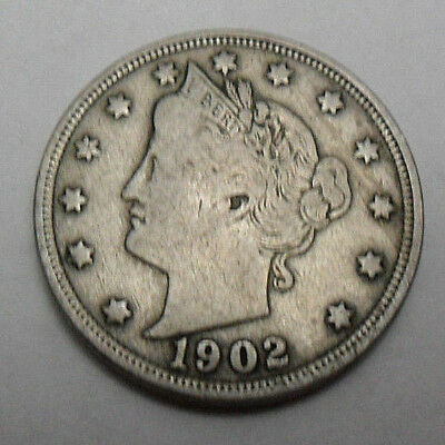 """1902 P Liberty Head """"v"""" Nickel  *ag Or Better*  **free Shipping**"""