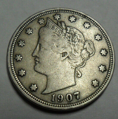"""1907 P Liberty Head """"v"""" Nickel  *ag Or Better*  **free Shipping**"""