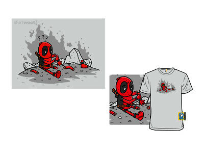 Shirt Woot Smithereens Deadpool T-Shirt (American Apparel; Size M) -- Free S&H!
