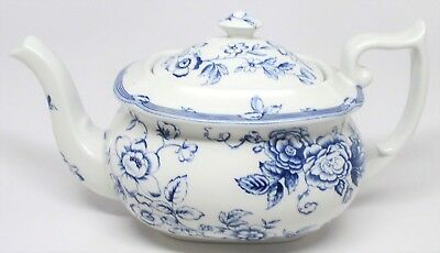 Spode Clifton Teapot Blue & White Laura Ashley England