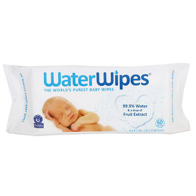 Water Wipes - The Worlds Purest Baby Wipes. 60 Wipes.