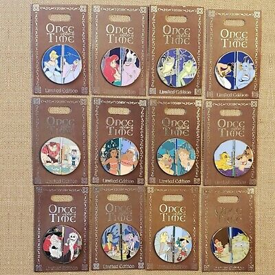 Once Upon a Time Flipper Pin Set 2018 Disney Parks Disneyland LE 2000