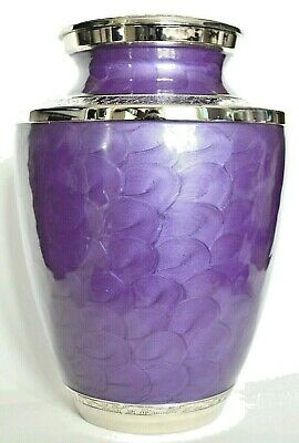 TOP QUALITY BRASS ! Adult Cremation Urn for Ashes - Gorgeous Lavender Design