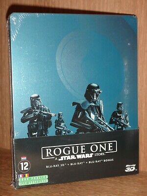 bluray neuf sous blister -  STEELBOOK - ROGUE ONE A STAR WARS STORY 3D