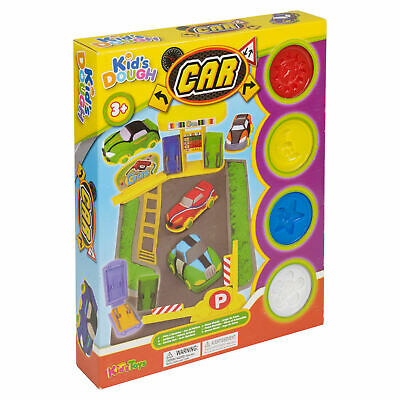 NEXT DAY DELIVERY! -Play Dough/Doh Kids Racing Car Set Garage Shaper Cutter -