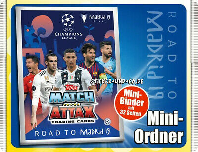 Topps Match Attax Champions League Road to Madrid 19 Mini Ordner Binder Mappe