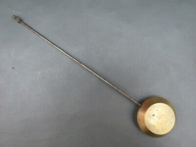 Large antique French brass and metal clock pendulum - spares parts