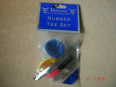 NEW SEALED ((BUY 1 GET 1 FREE)) Golf rubber Pyramid Tees Stringed 6 IN TOTAL.