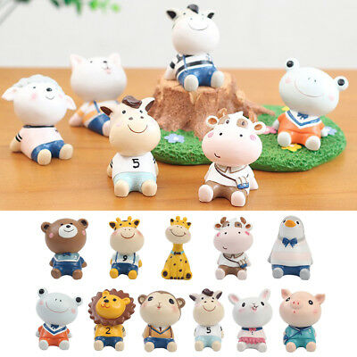 Lovely Simulation Cartoon Animal Home Ornament Resin Deer Decoration