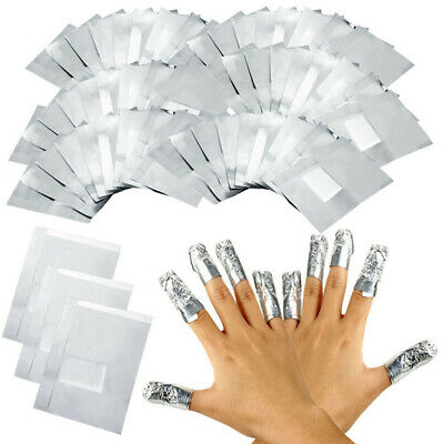 Nail Art Aluminium Foil Soak Off Acrylic Gel Polish Nail Wraps Remover Free Post