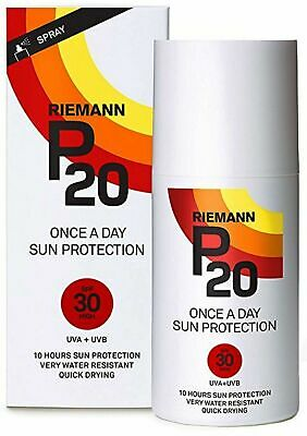 Riemann P20 Once a Day 10 Hour Sunscreen SPF30 Very High Protection 200ml Spray