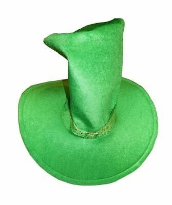 Irish Ireland Mega Tall Green Top Hat St Patrick's Day Fancy Dress Rugby Eire
