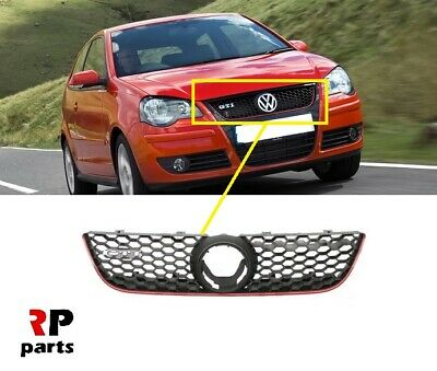 For Vw Polo (9N) Gti 05 - 09 New Front Bumper Upper Center Grille No Vw Badge