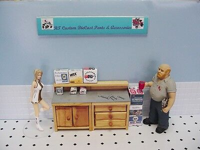 1/18 -Wooden Workbench #3-3 Drawer, 2 Door-DETAILED-w/BOXES for your shop/garage