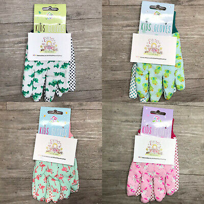 Childrens Gardening Gloves Kids Outside Garden Grip Girls Boys Summer Gift Cute