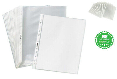 200 Clear Sheet Page Protectors Plastic Office Document Sleeves Non Glare New