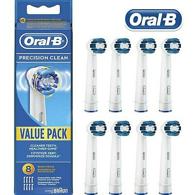 ORAL B PRECISION CLEAN Electric Toothbrush Replacement Brush Heads Braun BRUSH