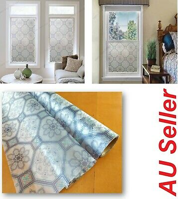90 CM x 2M - Stained Glass (B) Removable Frosted Window Glass Film for privacy