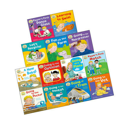 First Experiences with Biff Chip & Kipper Collection A New Baby 13 Books Set NEW