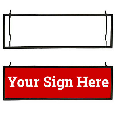 "Multi Fit 7"" H x 22"" L Sign Card Holder for Slatwall, Gridwall or Pegboard, Blac"